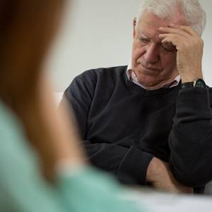older man in therapy session